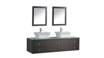 Nepal Double Sink Wall-Mounted Bathroom Vanity Set