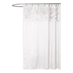 Lillian Shower Curtain, White