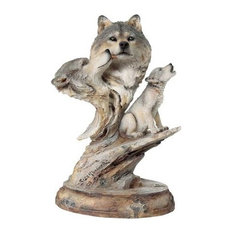 Wolf Family Song Sculpture