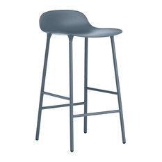 Normann Copenhagen Form Barstool, Lacquered Steel, Blue
