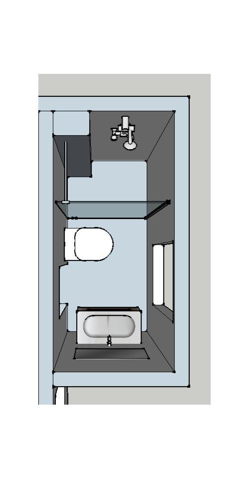 La Salle De Bain Est Très Petite, 1m Sur 2m. Que Pensez Vous De Cette  Agencement? Vous Auriez Inversé Le Meuble Vasque Et Le WC?