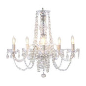 Swag Plug-in Authentic All Crystal Chandelier
