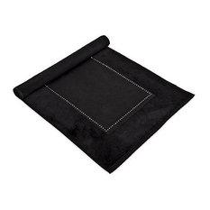 MV Swarovski Crystal Absorbent Cotton 1030 GSM Luxury Bath Mat, Black by MV Bath Collection