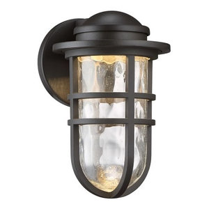 """WAC Lighting WS-W24509 Steampunk 1 Light 9-1/2"""" Width LED Outdoor Wall Sconce"""