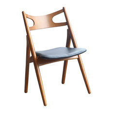 Fine Mod Imports Oksana Chair, Walnut