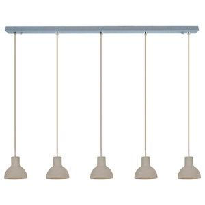 Bell Pendant Light, Five Bulbs, Small