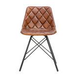 Diamond Stitch Leather Chair