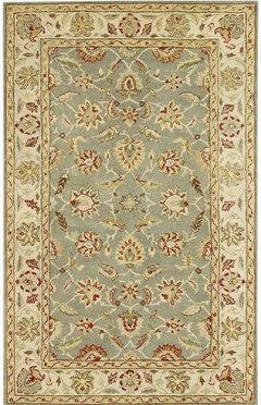 Who has a wool rug in their bathroom?