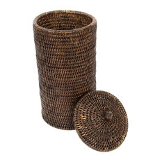 Artifacts Trading Company Rattan Double Toilet Roll Holder Espresso Paper Holders
