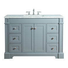 Stufurhome Seine Bathroom Vanity, Gray, 48""