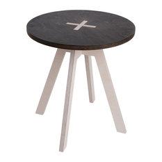 Round Cross-Lock Table, Black
