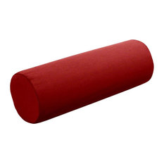 "Sunbrella Bolster Pillow, 20""x6"", Jockey Red"
