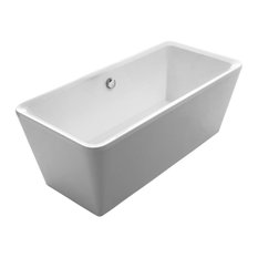 AMANDA Cubic Freestanding Dual Ended Lucite Acrylic Bathtub