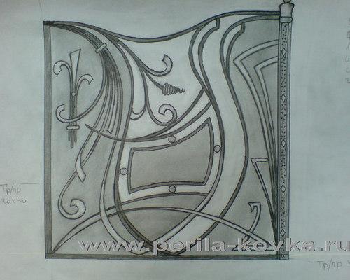 Эскизы кованых перил, ограждений, перегородок - коллекция эскизов ограждений - Для использования на улице