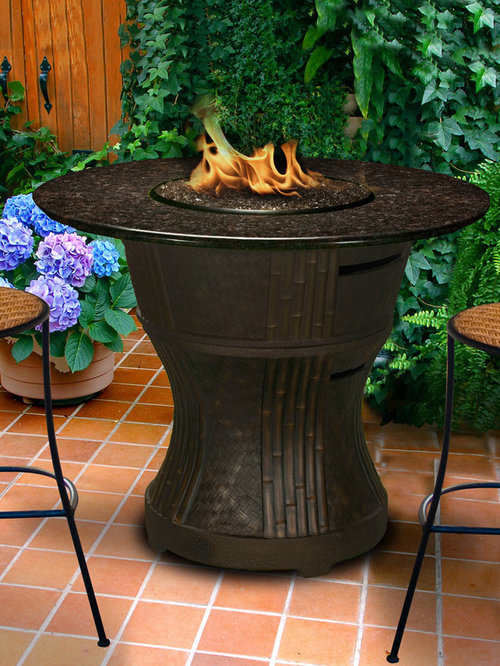 California Outdoor Concepts   Tradewinds Fire Pit Bar Table   Fire Pits