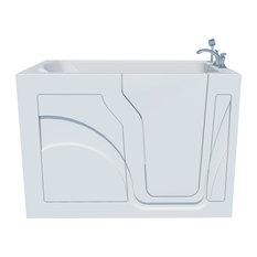 HealthSmart Walk-In Soaker Bathtub, Bright White, Left Hand Door