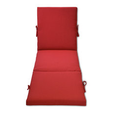 Outdoor Patio Chaise Cushion, Red