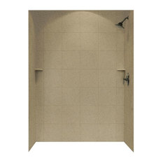Swan 36x62x96 Solid Surface Shower Wall Surround, Barley