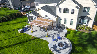 Outdoor Living Area in Twin Hickory