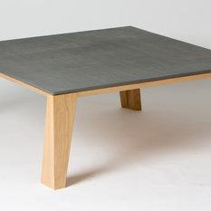 - Table basse bois et béton - Table Basse