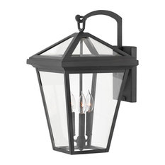 Hinkley Alford Place Outdoor Large Wall Mount Lantern, Museum Black