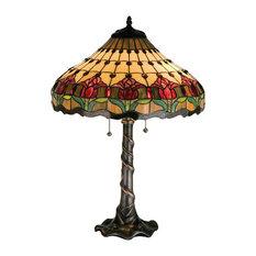Meyda Tiffany   Meyda Tiffany 99270 Colonial Tulip Table Lamp   Table Lamps