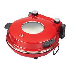 Kalorik Hot Stone Countertop Pizza Oven, Adjustable Temp., Cutter/Paddles