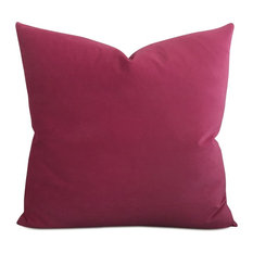 "24"" x 24"" Magenta Velvet Decorative Pillow Cover"