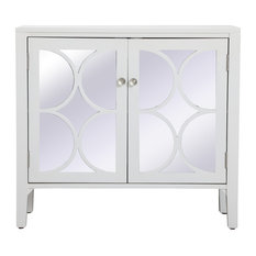 36-inch Mirrored Cabinet In White