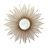 Large Sunburst Gold Mirror, 100x100 cm