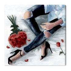 """""""Romantic Jeans Autumn"""" Canvas Art Print, 60x60 cm"""
