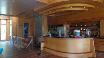 modern kitchen with natural materials