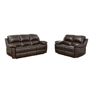 Brilliant Abbyson Living Toscana 2 Piece Leather Sofa And Recliner Set Gmtry Best Dining Table And Chair Ideas Images Gmtryco