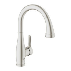 Grohe 30 213 Parkfield Pull-Down High-Arc Kitchen Faucet - SuperSteel
