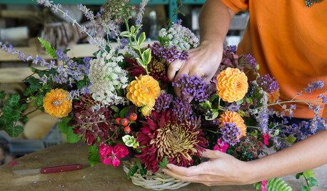 DIY : Un centre de table automnal avec les fleurs du jardin