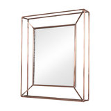 Small Metal Frame Wall Mirror, Copper-Coloured