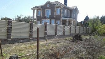 Забор жалюзи из металлического штакетника (евроштакетника)