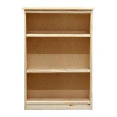 York Bookcase, 11_x25x36, Pine Wood, Unfinished