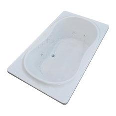 Fabriano 42 x 72 Air & Whirlpool Drop-In Bathtub w/ Center Drain - Right Pump