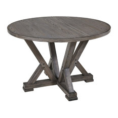Fiji Complete Round Dining Table, Harbor Gray