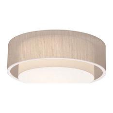 "Sanibel LED Ceiling, White Finish, Jute, 23"""