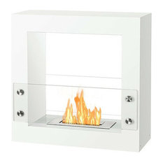 Ignis Tectum Mini White, Free Standing Ethanol Fireplace, FSF-010W
