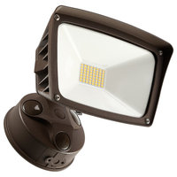 Dusk-to-dawn LED Outdoor Flood Light With Photocell, 28W, 3000k Warm White