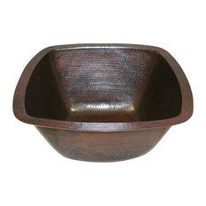 "15"" Square Copper Kitchen Bar Prep Sink Drop In or Under Mount"