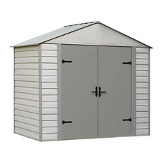 Viking 8'x5' Shed, Stoney, Creamy Vanilla and High Gable