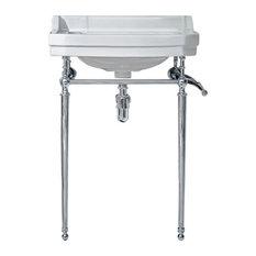 "Elmer 24"" Traditional Freestanding Pedestal Vanity with Ceramic Sink"