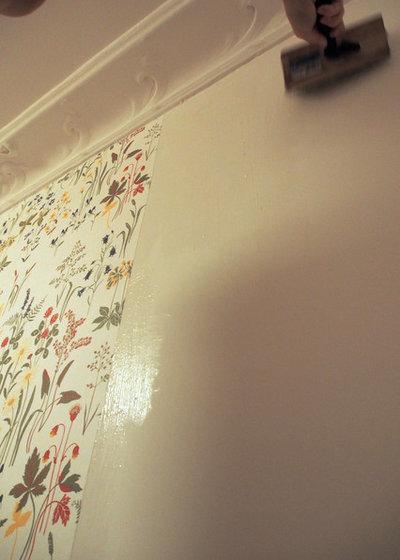 Diy anleitung tapezieren leicht gemacht - Gestrichene wand tapezieren ...