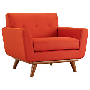 Engage Upholstered Fabric Armchair Midcentury