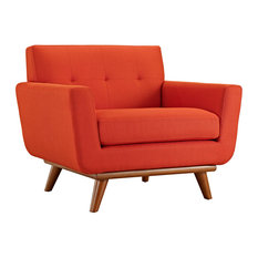Engage Upholstered Fabric Armchair, Atomic Red
