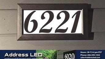 Address LED - illuminated house numbers